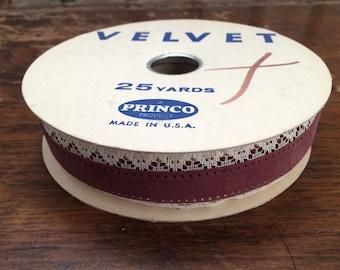 Vintage Velvet with Lace Ribbon