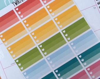 NEW 3 Layer Heart Checklist Box Planner Sticker