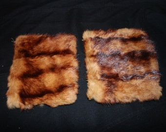 Two lovely vintage mink cuffs- elegant fur from a distant past would make a lovely sleigh muff!