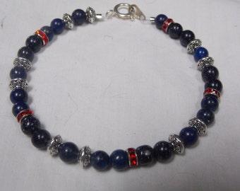 Hand made one of a kind Bracelet Bluestone,onyx