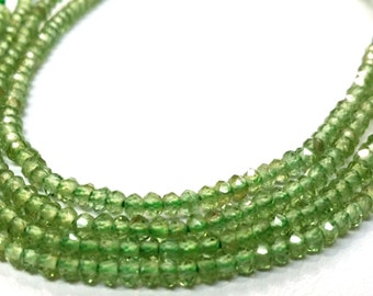 3.00 MM Natural Green Appetite Faceted Roundel