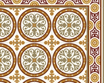 Tiles Pattern, Decorative PVC, Vinyl Mat, Linoleum Rug, Free Shipping, Floor