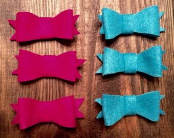 3'' Felt Hair Bow with Alligator clip