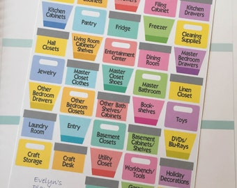 Organizing / Cleaning Planner Stickers