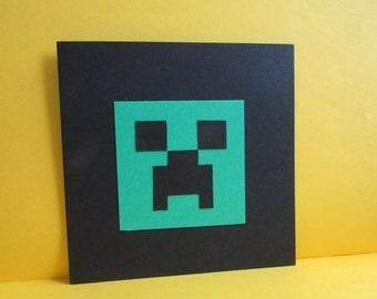 Handmade Minecraft Creeper Card