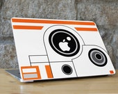 BB-8 Droid Star Wars - Peel and Stick Fabric Macbook Skin Cover Decal for all Macbook Models