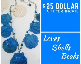 Gift Certificate 20 Dollars Jewelry Gift Certificate Beach