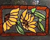 Daisies in stained glass