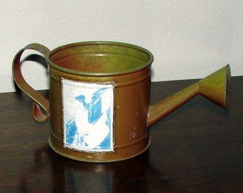 Vintage Metal Sprinkler Can Small Metal Plant Watering Can Very Shabby Cool