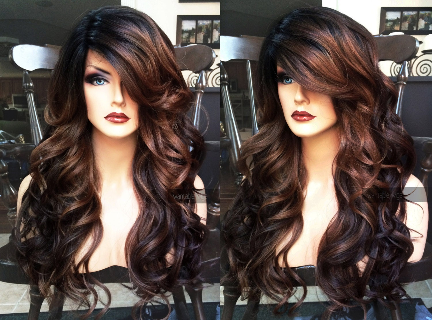 U S A Heat Safe Brown Auburn Ombre Lace Front Amp Part Curly