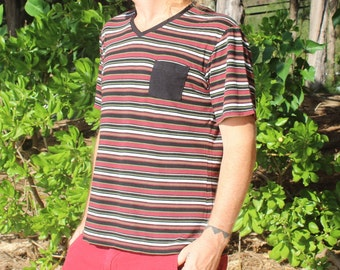 V Neck T-Shirt (Bamboo-Organic Cotton 70/30%)