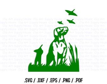 Hunting Bird Dog Clipart, Bird Hunter, Office Art, Animal SVG File for Vinyl Cutters, Screen Printing, Silhouette Die Cut Machine - CA129