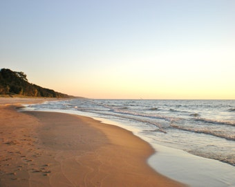 SAND AND SURF in Color--Beach Photography, Michigan Photography, Lake Michigan, Landscape, Seascape, Shoreline, Beach, Sandy Beach, Shore