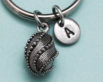 Easter egg keychain, Easter egg charm, holiday keychain, personalized keychain, initial keychain, customized, monogram