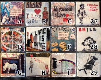 Graffiti Coasters (Mix and Match) or Decor Accent