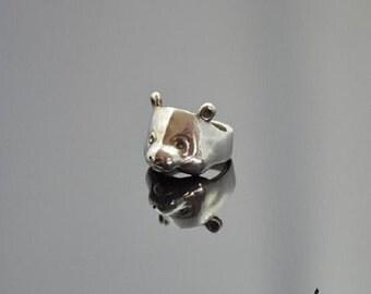 Ring Panda Silver