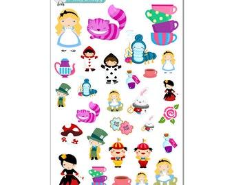 Alice in Wonderland Stickers - Disney Planner Stickers