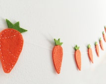 Carrots Felt Garland Easter banner Spring party photo prop Backdrop Kitchen Decor Kids Playroom decor Nursery decor Rabbit Bunny