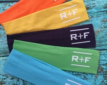 Rodan and Fields set of 10 R+F Cotton Headbands Assorted Colors  Stretch Elastic Yoga Fashion Headband Teens Women Girls Head Band Hair W