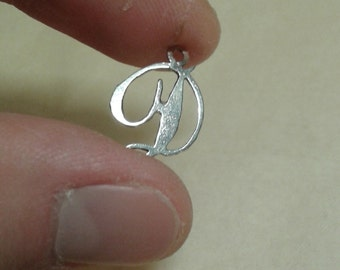 Sterling silver letter D charm