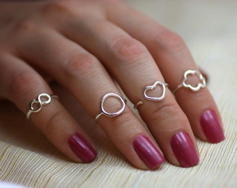 Sterling Silver Knuckle Ring, Sterling Silver Midi Ring, Mothe's Day Gifts