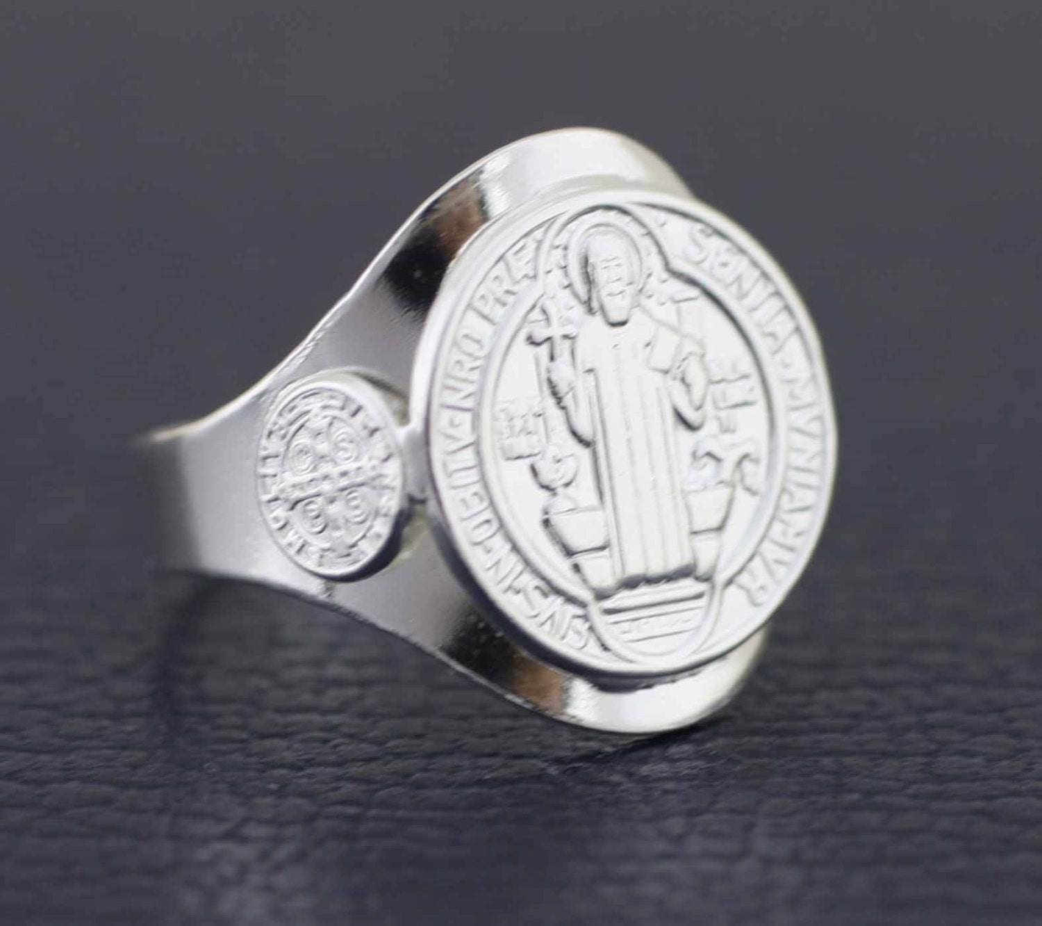 Sterling Silver Saint Benedict Ring Sterling Silver 925 San