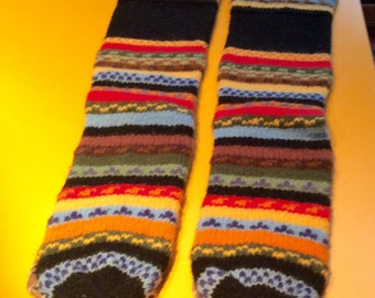 Vintage / Sliper socks of many colors/ lambs wool/ made in Bolivia.