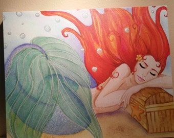 Mermaid Dreams Gallery Wrap Canvas print 16x20