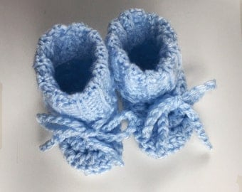 Simply Blue Baby Booties