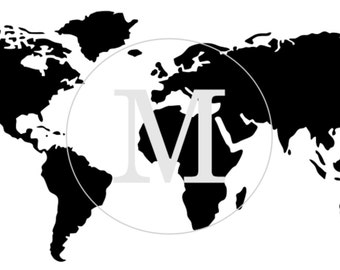 World Map Furniture or Wall Stencil. 3 Different Sizes