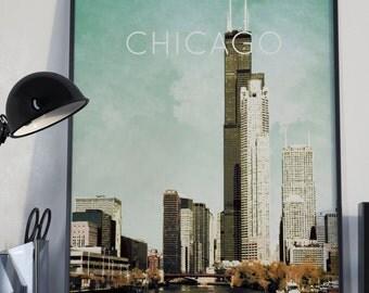 Chicago, Illinois Poster 11x17 18x24 24x36