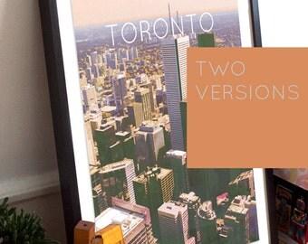 Toronto Illustration Poster 11x17 18x24 24x36