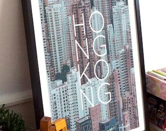 Hong Kong China Poster 11x17 18x24 24x36