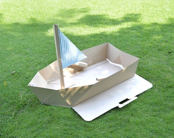 PopaBoat - The Foldable Eco-friendly Cardboard Toy Boat