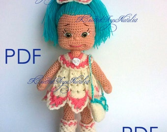 Crochet doll pattern Natasha  PDF Amigurumi crochet pattern knitted Doll Аmigurumi doll pattern Knitting pattern  Crochet Doll