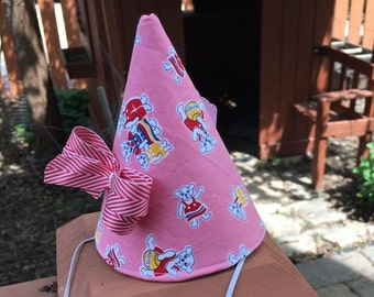 Kid's Fabric Party Hat (three little bears print)