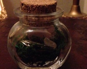Healing Mini Spell Bottle, Witch, Wicca Charm