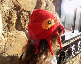Red Octopus Beanie