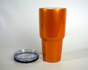 30oz AB1031 Powder Coated Yeti Rambler Tumbler Orange Metallic