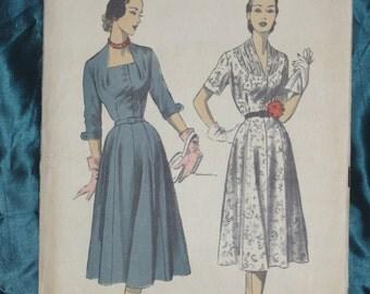 1950s Dress Pattern Advance 5958 Sz 18 Bust 36