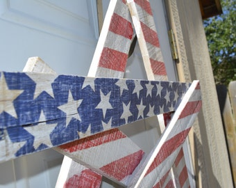 Good Pallet Star, Rustic Pallet Decor, Patriotic Star, Rustic Flag, Reclaimed  Wood,