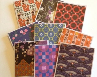 Japanese Mini cards, thank you cards, note card set, autumn cards, fall, japanese stationery, blank, gift tag, lunch box notes, shop cards