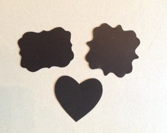 Chalkboard shapes, label, table place cards, blackboard label, heart, Chalkboard tags, gift tags, wedding decor, wedding props
