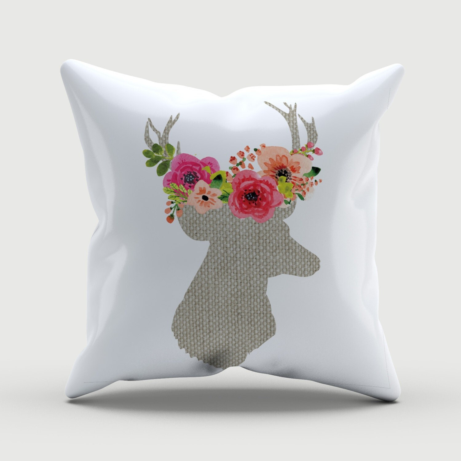 Decorative Pillows Deer : Throw Pillow Deer Pillow Decorative Pillow Deer Decor
