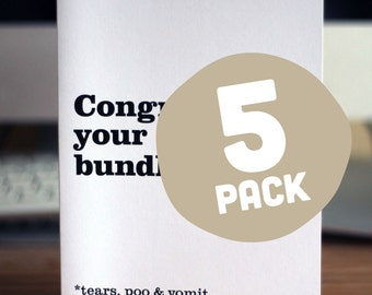 5 PACK / Assorted greeting cards
