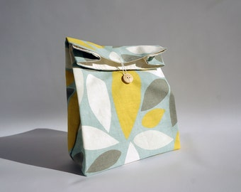 Colorful cotton lunch bag with handle - multicolor / pastel