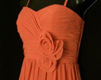 Vintage Burnt Orange Chiffon Gown                                 VG122