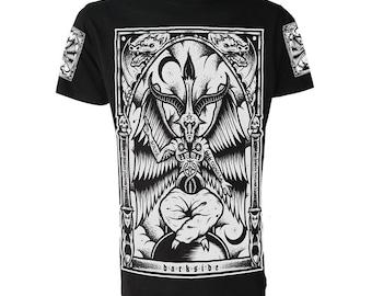 BAPHOMET T SHIRT Occult Satanic Goth Emo Biker