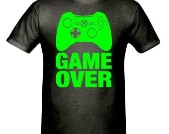 Game over gaming t shirt, boys t shirt sizes 5-15 years, children's t shirt