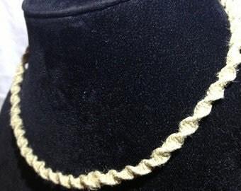 Handmade Swirl Style Hemp Necklace